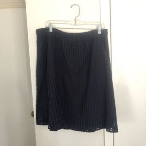 Ava and Viv Navy Eyelet Skirt